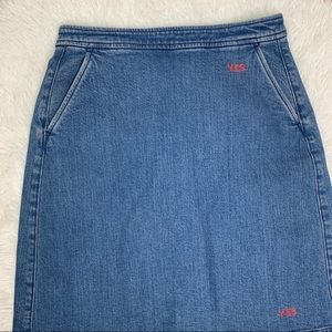 J crew vintage jean pencil skirt size medium